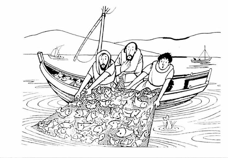 25++ Miraculous catch of fish coloring page info