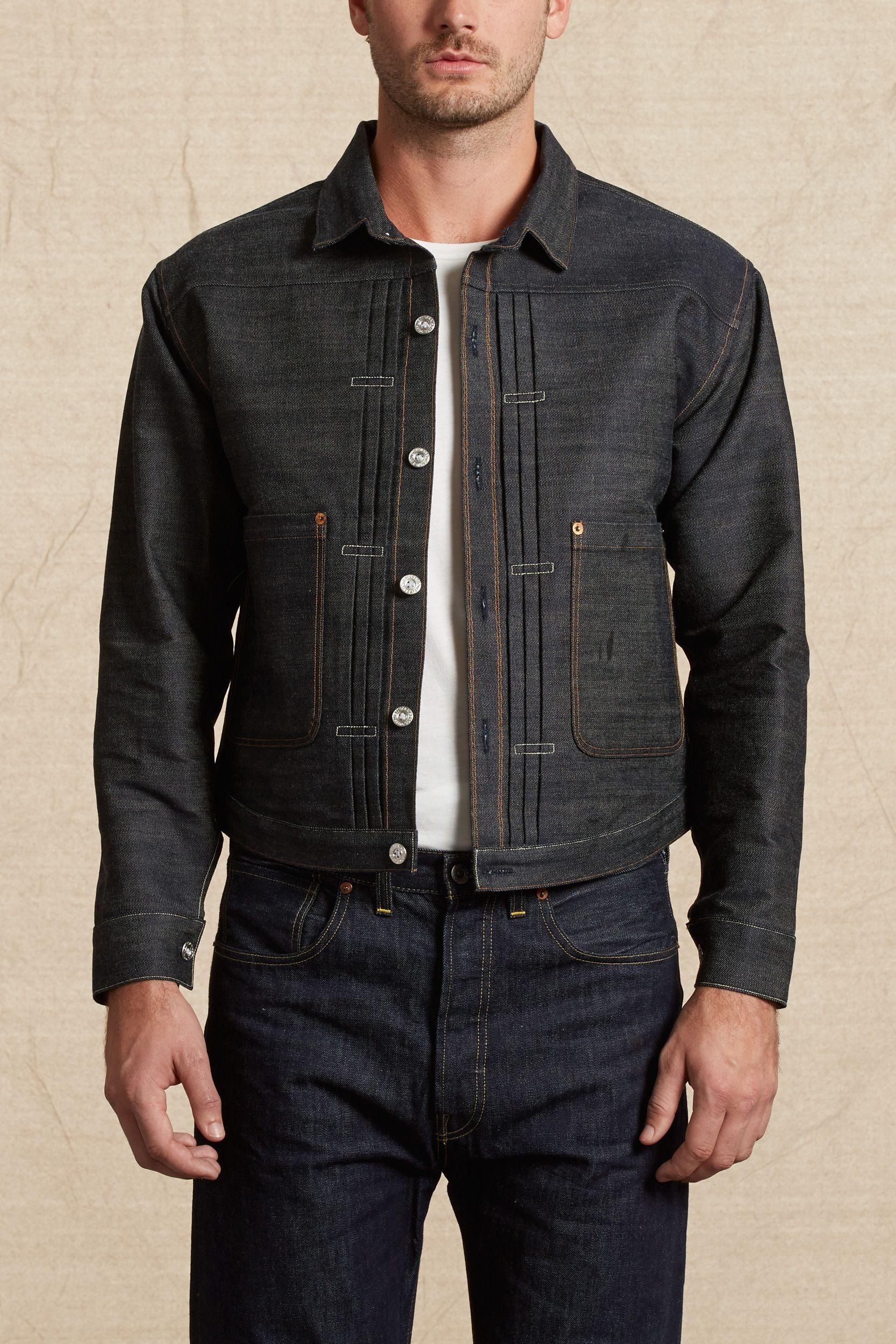 Triple Pleat Blouse Vintage Clothing Men Leather Jacket Men Style Jackets Men Fashion