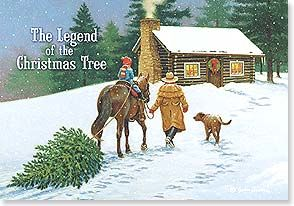 Leanin Tree Christmas Cards.Christmas Card The Legend Of The Christmas Tree John
