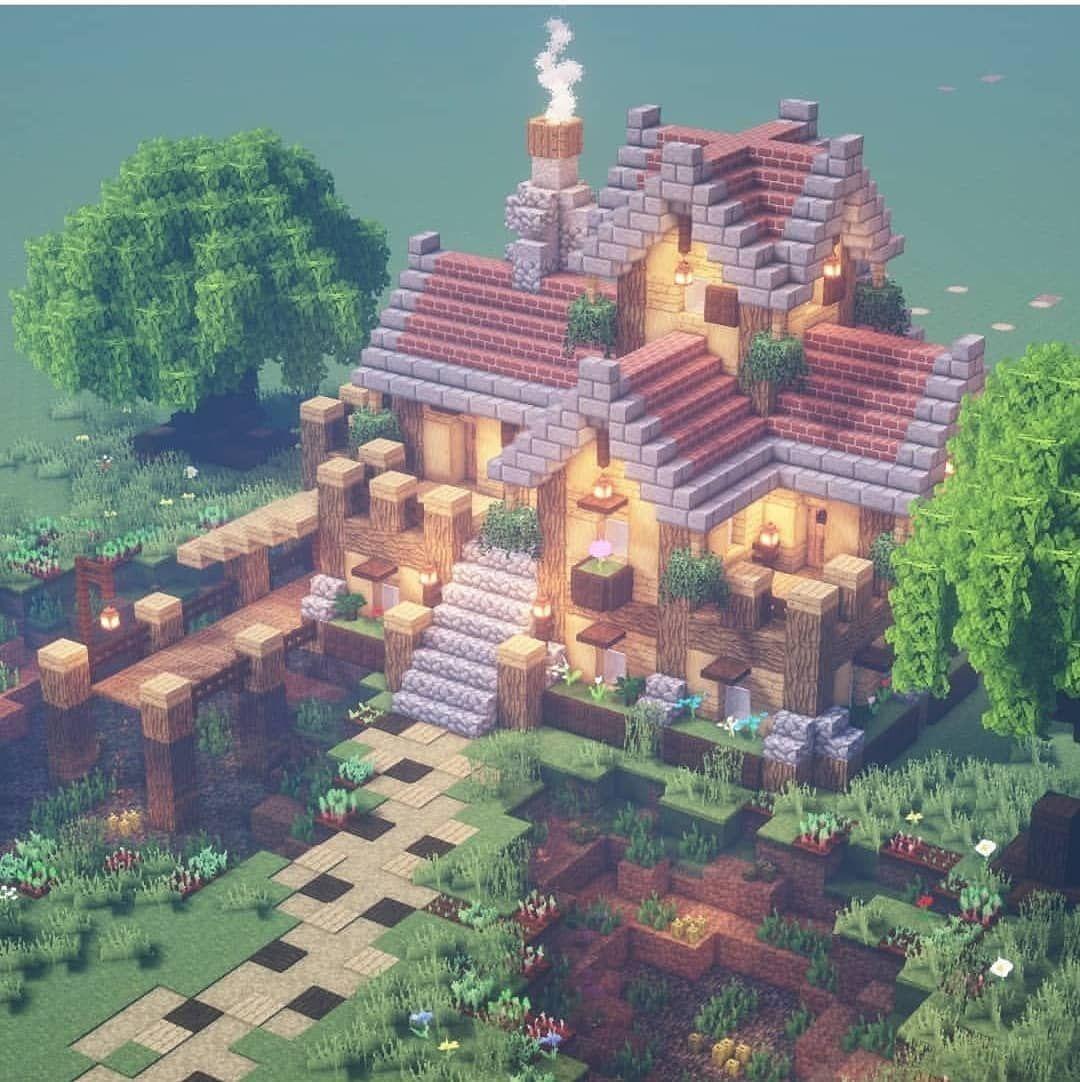 Pin Em Casas No Minecraft