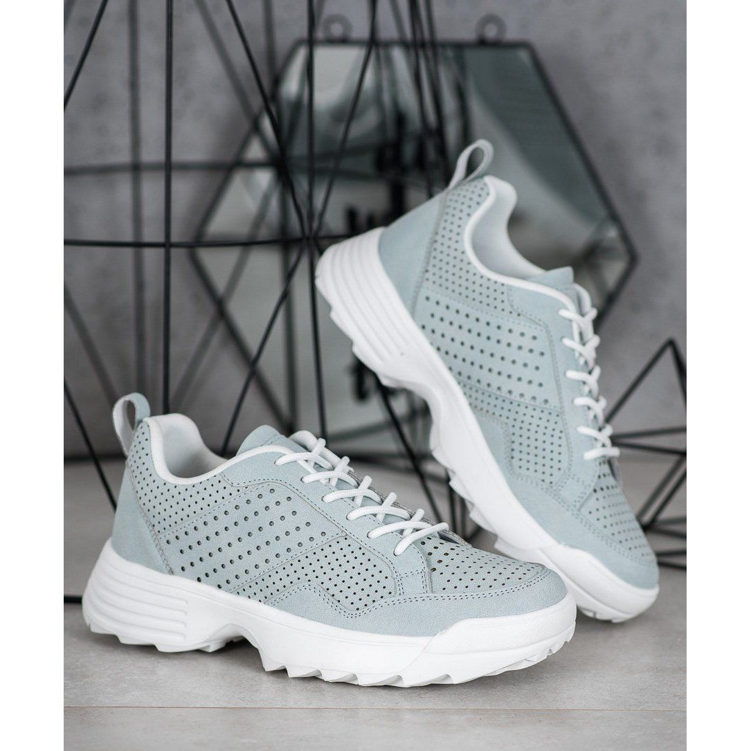 Kylie Lekkie Azurowe Sneakersy Szare Sneakers Types Of Heels Air Max Sneakers