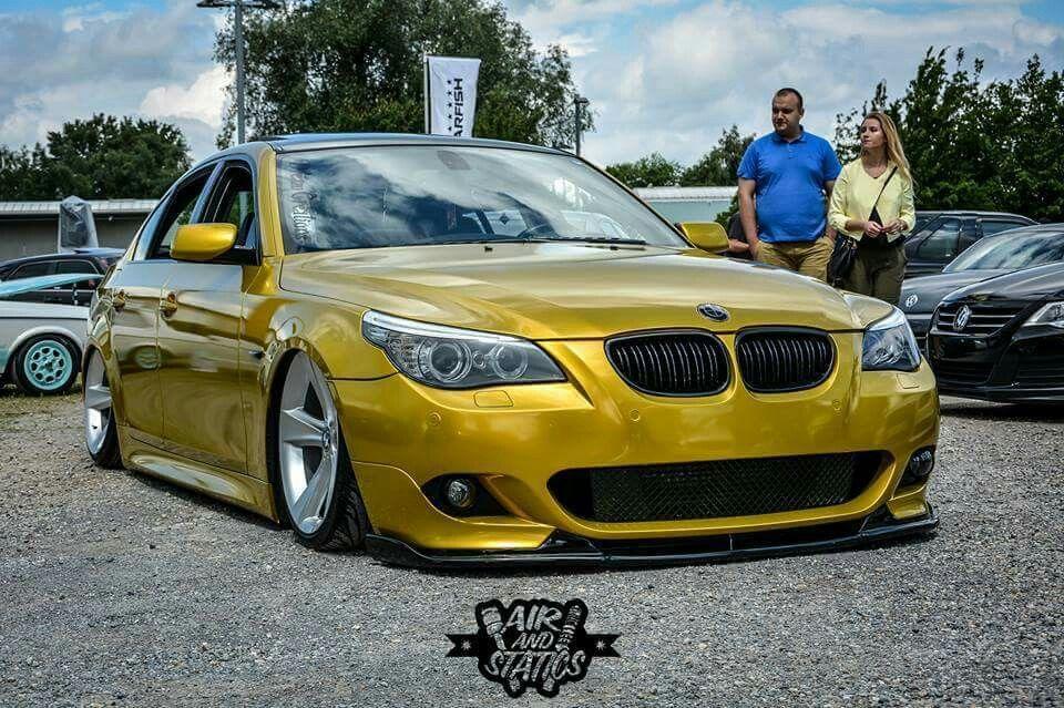 Bmw E60 M5 Yellow Slammed Bmw Bmw E60 Bmw E60 M5