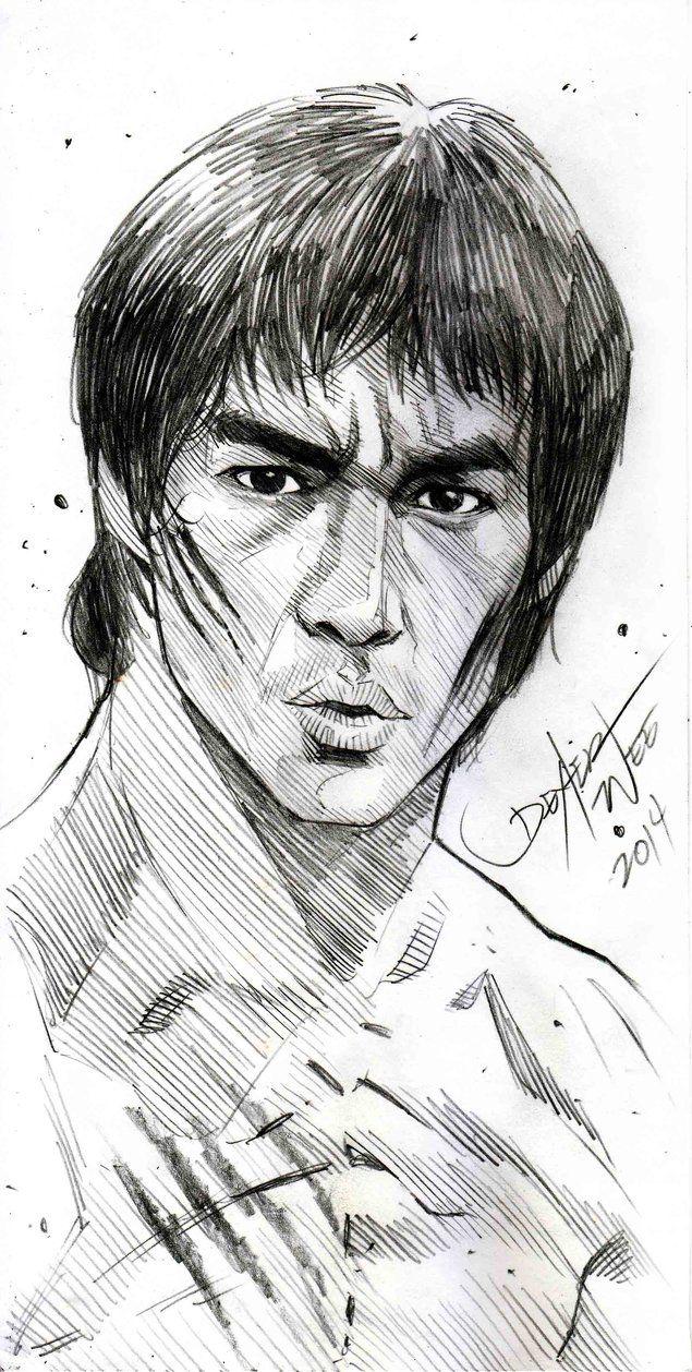 Bruce Lee Sketch By Dexterwee On Deviantart Bruce Lee Art Cool Art Drawings Bruce Lee