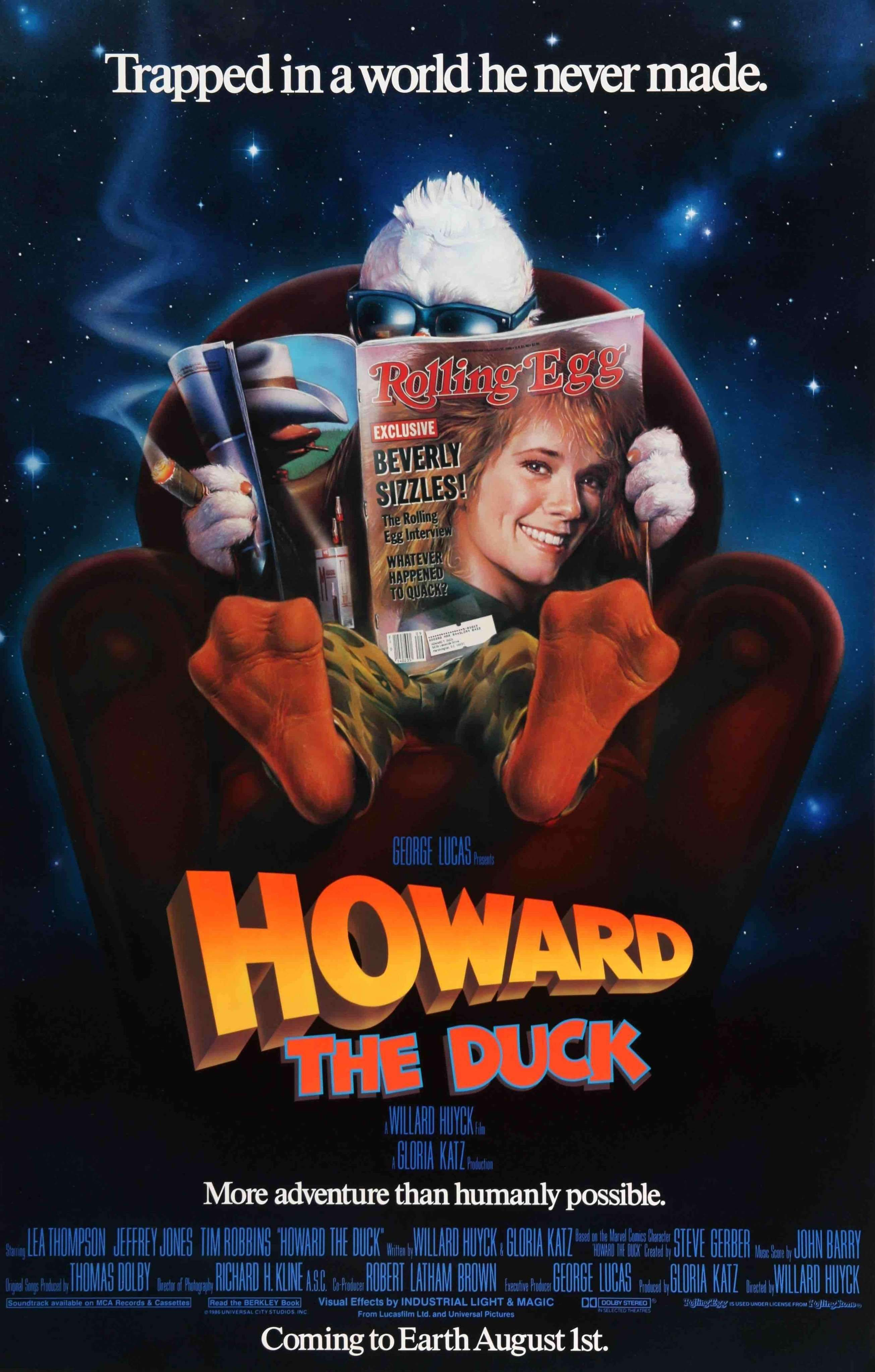Howard The Duck 1986 80s Movies Worst Movies Streaming Movies