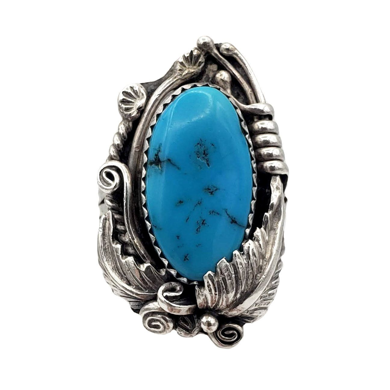 Classic Twisted Wire 925 Sterling Silver and Turquoise Ring for Women,Silver Hand Crafted Fashion Ring,Dainty silver and turquoise ring