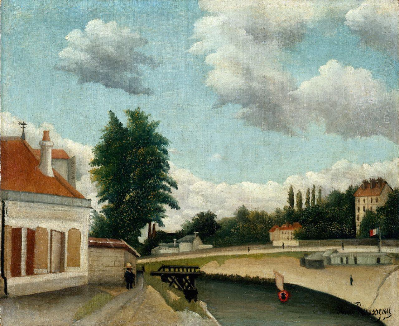 La Seine à Meudon, c. 1893-1900. Henri Rousseau. Oil on canvas