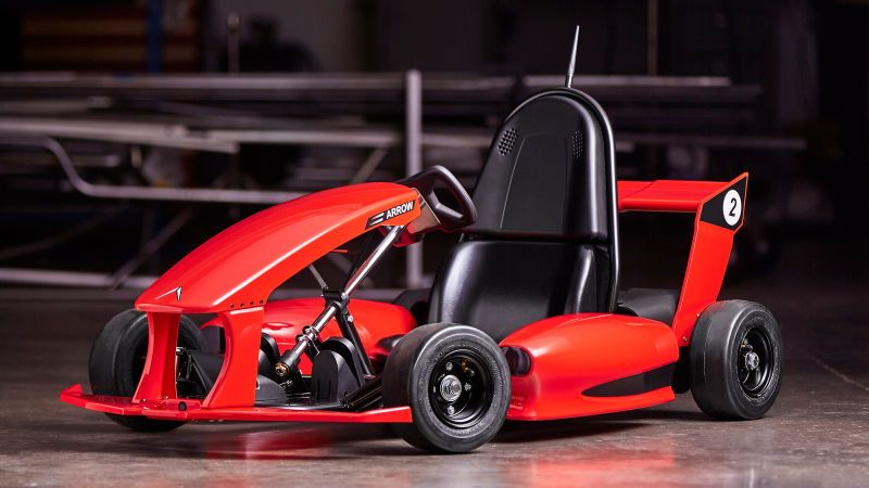 the arrow smart electric go kart is a tesla for nine year olds