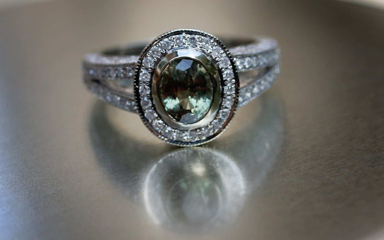 d763e29b19745 Natural Alexandrite diamond ring 14k white gold by EidelPrecious, $5,000.00