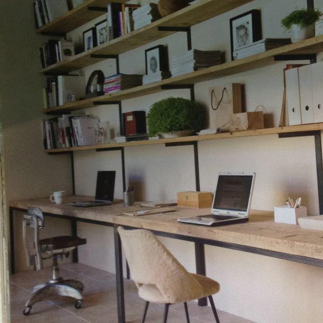 biblioth que bois de coffrage d co bureau pinterest bois de coffrage coffrage et bois. Black Bedroom Furniture Sets. Home Design Ideas