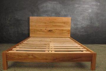 Plain Timber Headboard Bed Frame Wood Bed Frame Wooden Bed