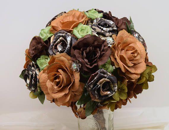 Mossy Oak Camo Fall Wedding Bouquet Camo Wedding Camo Wedding