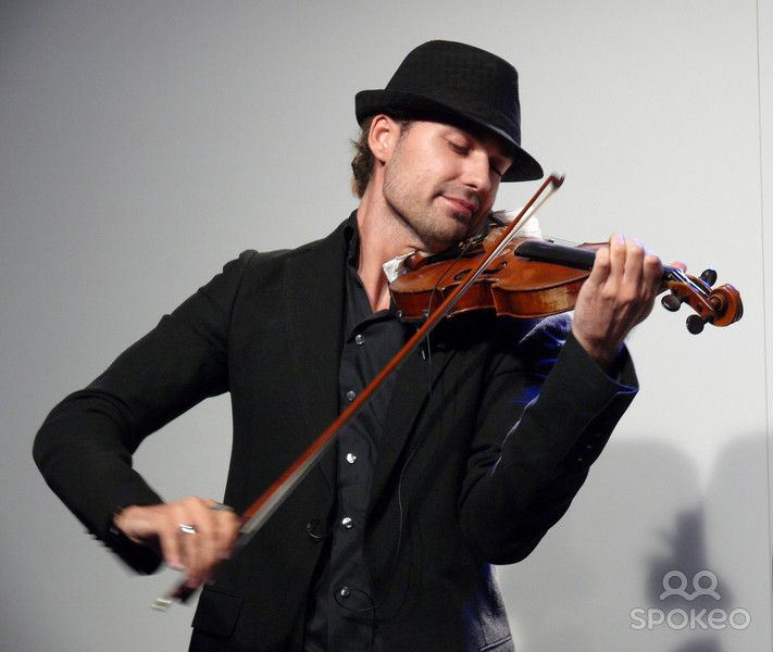 David Garrett performing live Premiere Montblanc Star at KaDeWe department store