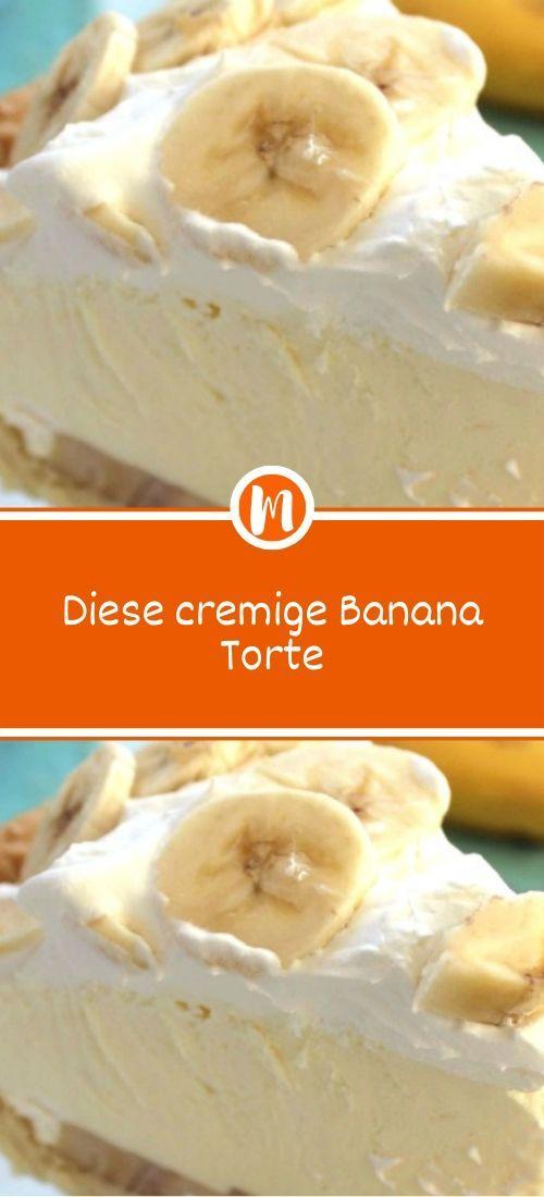 Diese cremige Banana Torte
