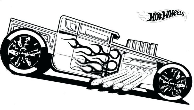 Hot Wheels Coloring Pages To Make Your Kids Day Colorful Cars Coloring Pages Truck Coloring Pages Hot Wheels