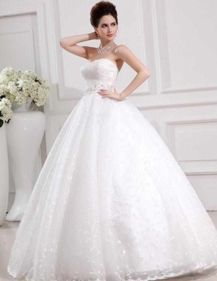 Самое шикарное свадебное платье пышное
