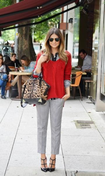 Look: Thassia Naves - Tricot Vermelho