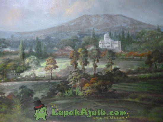 lukisan karya adiwinata panorama babakan siliwangi 1962