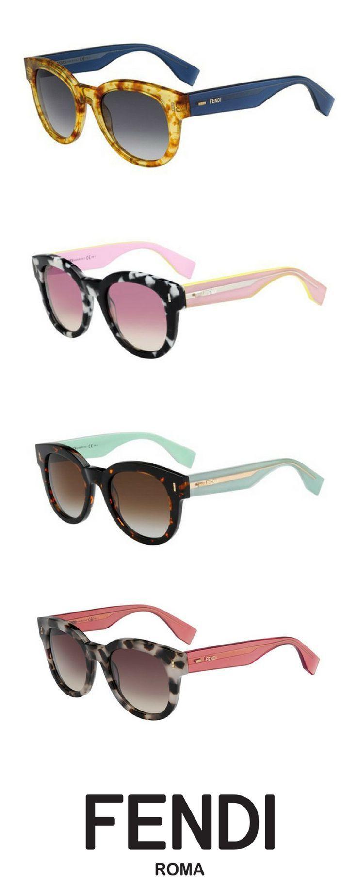 Fendi FF 0026/S COLOR BLOCK HK4/IF Sunglasses Havana/Green ...
