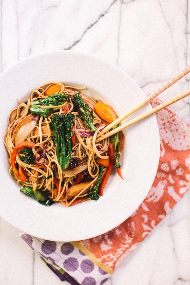 Soba Noodles Chicken Stir Fry Recipe Honeysuckle