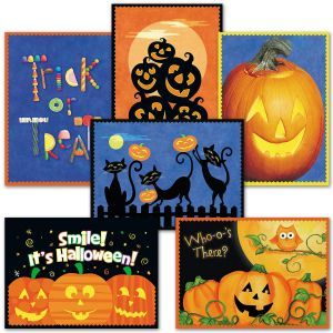 Current 2020 There Halloween Card Halloween Greeting Cards, Ghosts & Pumpkin   Current Catalog in