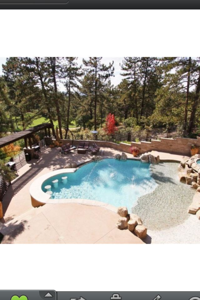 Small Pool With A Sloping Backyard Swim Up Bar Sloped
