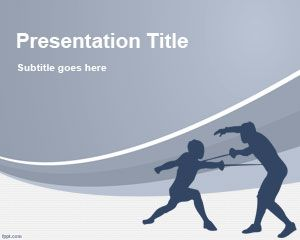 Fencing Powerpoint Template Is A Free Sports Powerpoint Template