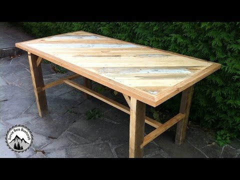 Fabrication D 39 Une Table Solide En Bois De Recuperation