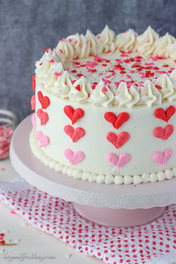 valentine's day ombre heart cake | heart cakes, decorating and cake, Ideas