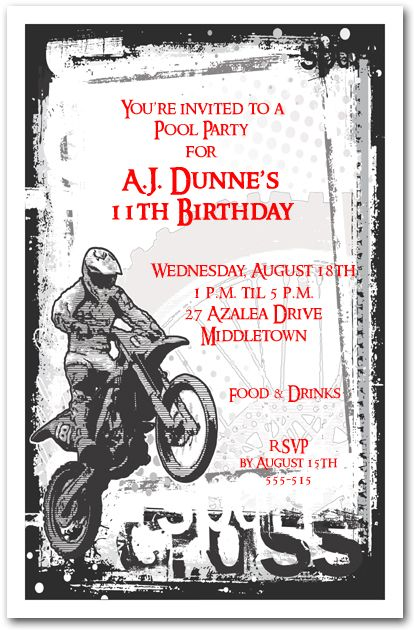 motocross birthday party supplies Google Search – Motocross Birthday Invitations