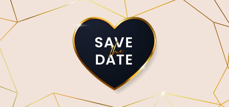 Save The Date Clean Luxury Wedding Invitation Card Cover Background Glowing Golden Love Badge Frame Vector Illustration With Abstract Polygonal Geometric Shape Convite De Casamento Ilustracao Vetorial Aquarela Floral