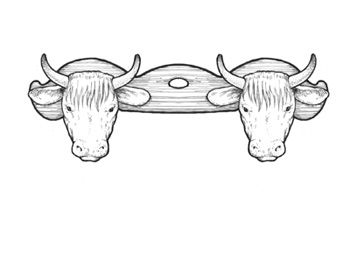 Late Bronze Age Yoke Reconstruction Bronze Age Ox Tattoo Bronze