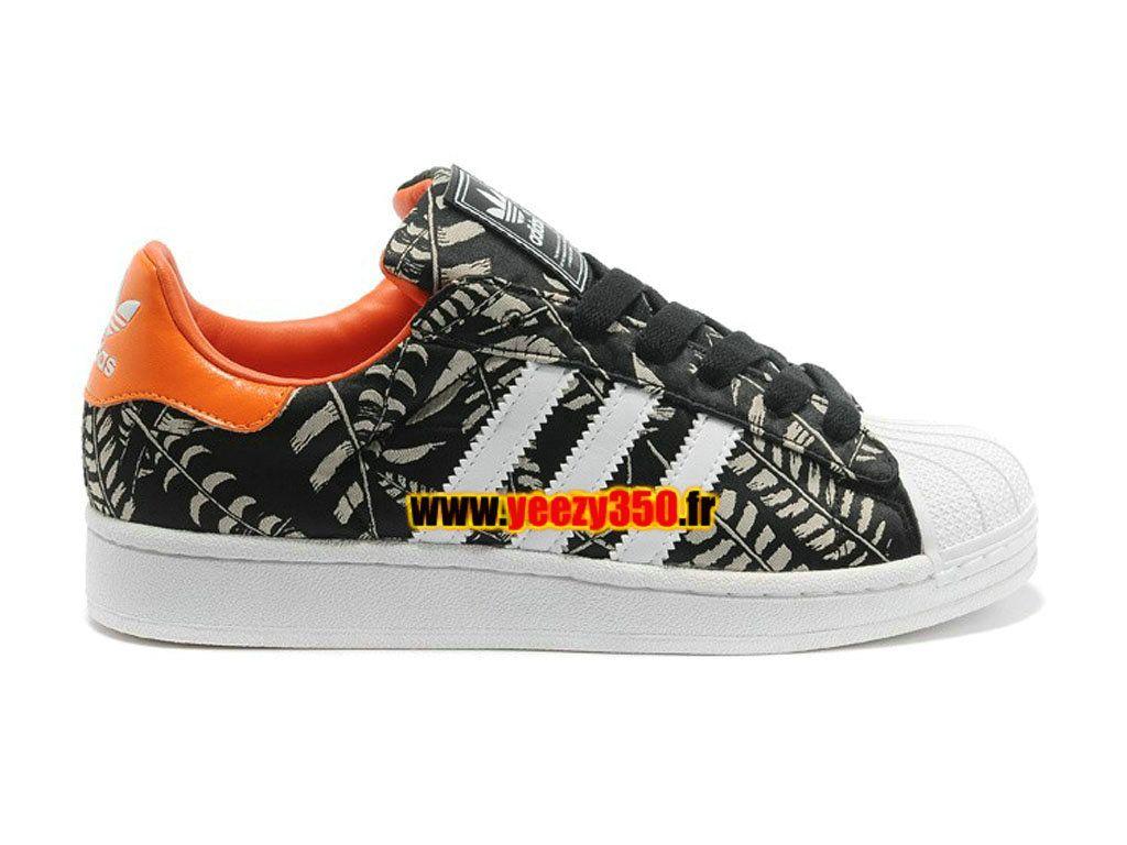 4d6e095861d Adidas Originals Superstar 2 Chaussures Adidas Pas Cher Pour Homme Femme  Noir   Blanc