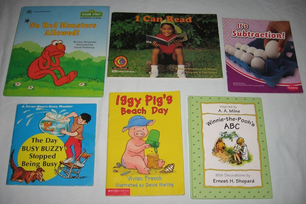 For Sale Lot Of 6 Learning To Read Abc Counting Pre K 1st Grade