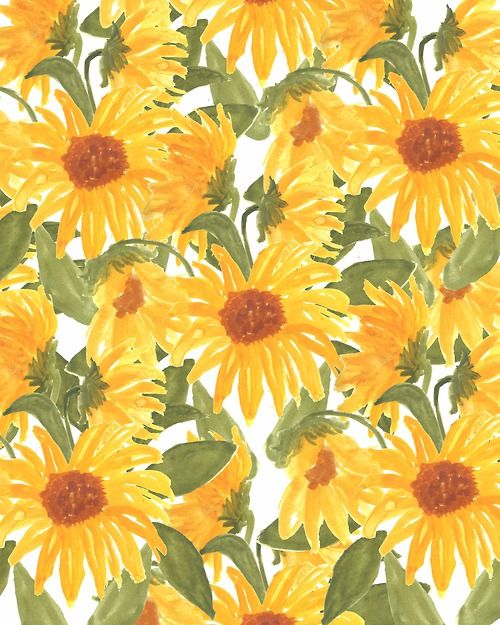 Bouffants Broken Hearts Sunflower Wallpaper Phone Wallpapers Tumblr Yellow Wallpaper