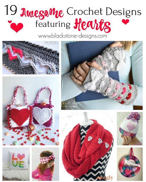 Roundup 19 Awesome Heart Crochet Patterns Blackstone Designs