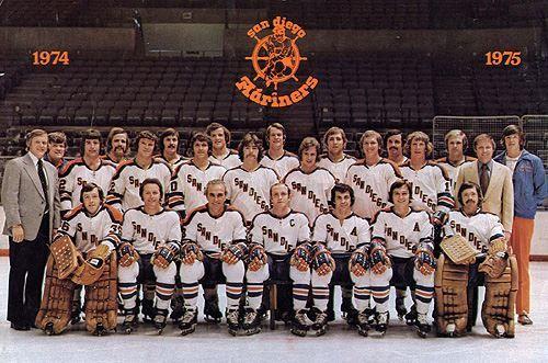 San Diego Mariners 1974 75 World Hockey Association Ice Hockey