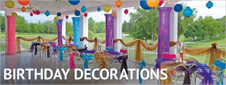 Outdoor decorations for special occasions Lanterns ribbons lights