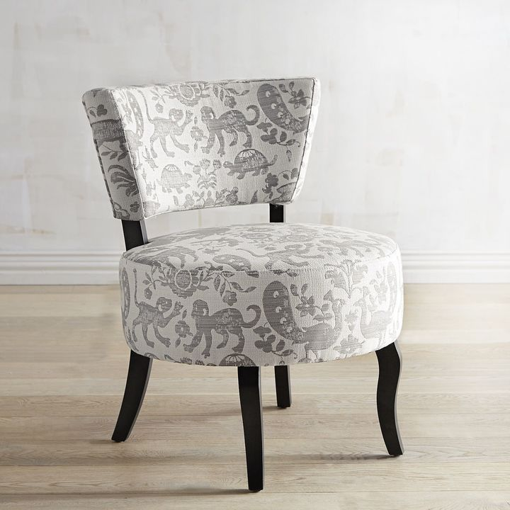 pier 1 imports sabine gray animal chair products tufted accent rh pinterest com