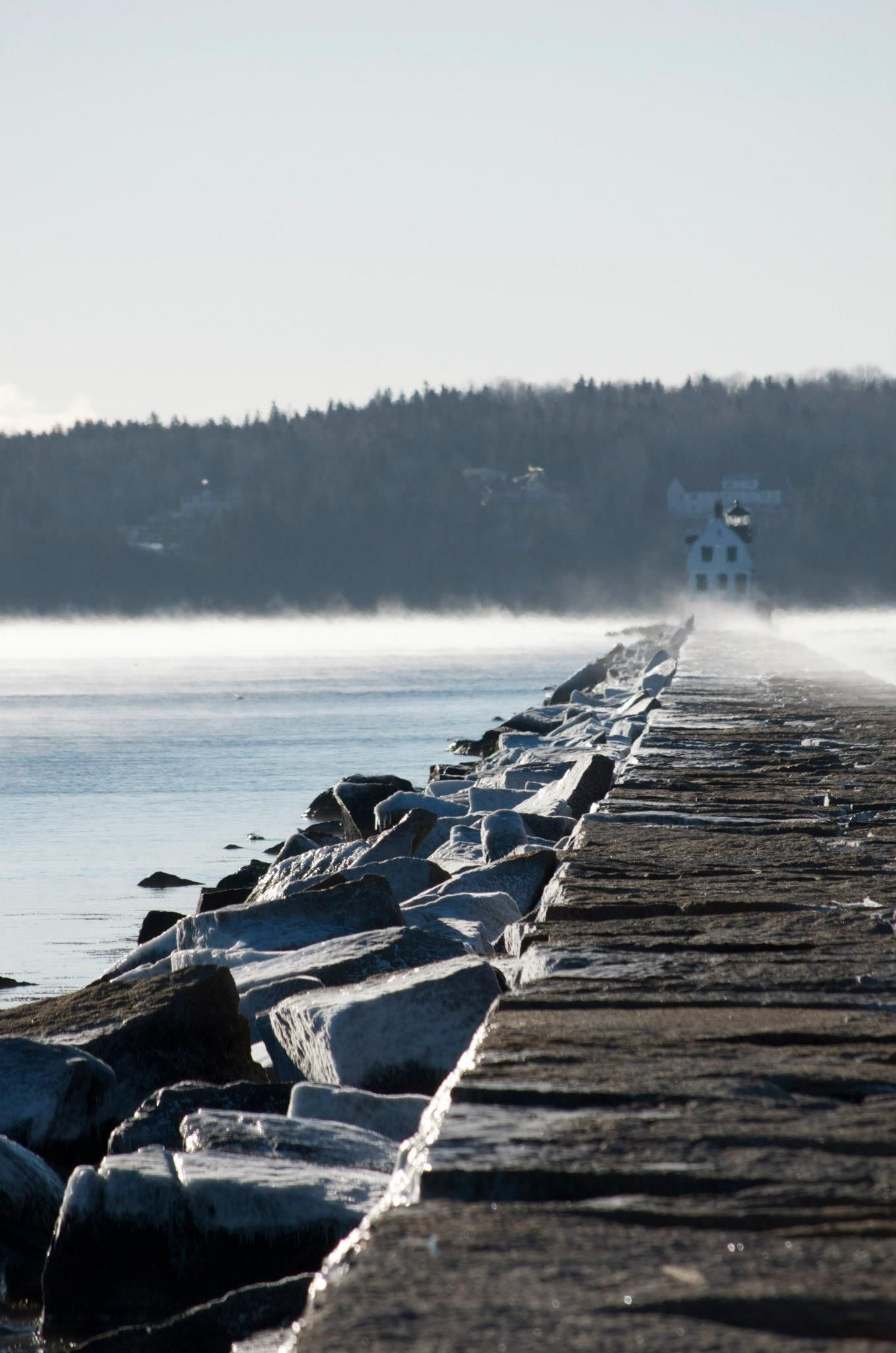 Breakwater Sea Smoke Natural Landmarks Landmarks Photo