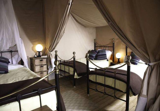 Eurocamp Safari Tent Bedrooms