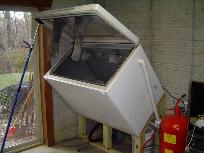 Home made sandblast cabinets  lets see them. Home made sandblast cabinets  lets see them   Mopar  Shopping and