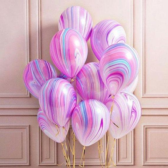 Einhorn-Luftballons, Baby-Dusche, Einhorn-Party, Geburtstagsfeier, Pastell-Luftballons, Marmor-Luftballons, Partyzubehör, Hochzeitsdekorationen