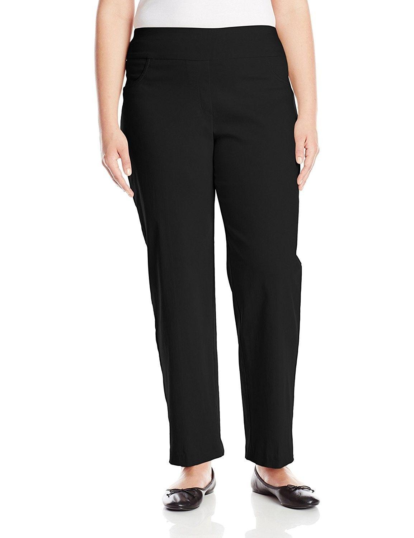8da3522a01c60 Women s Plus-Size Pull-On Solar Millennium Pant - Black - CD11XC35COX