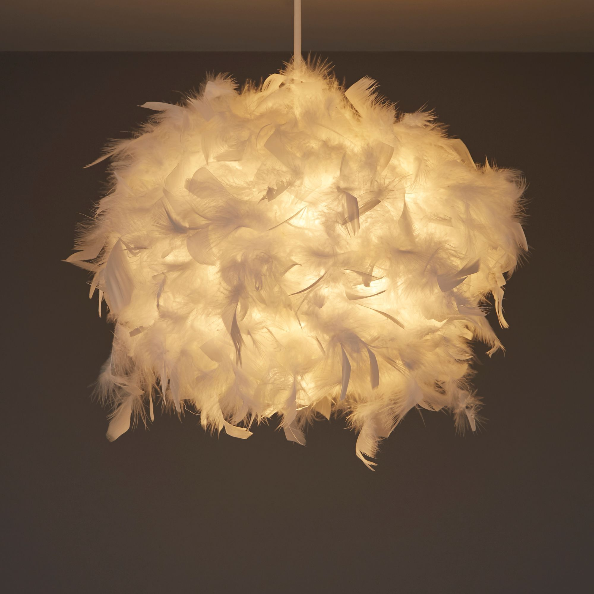 Colours Melito White Feather Ball Light Shade D 250mm In 2020