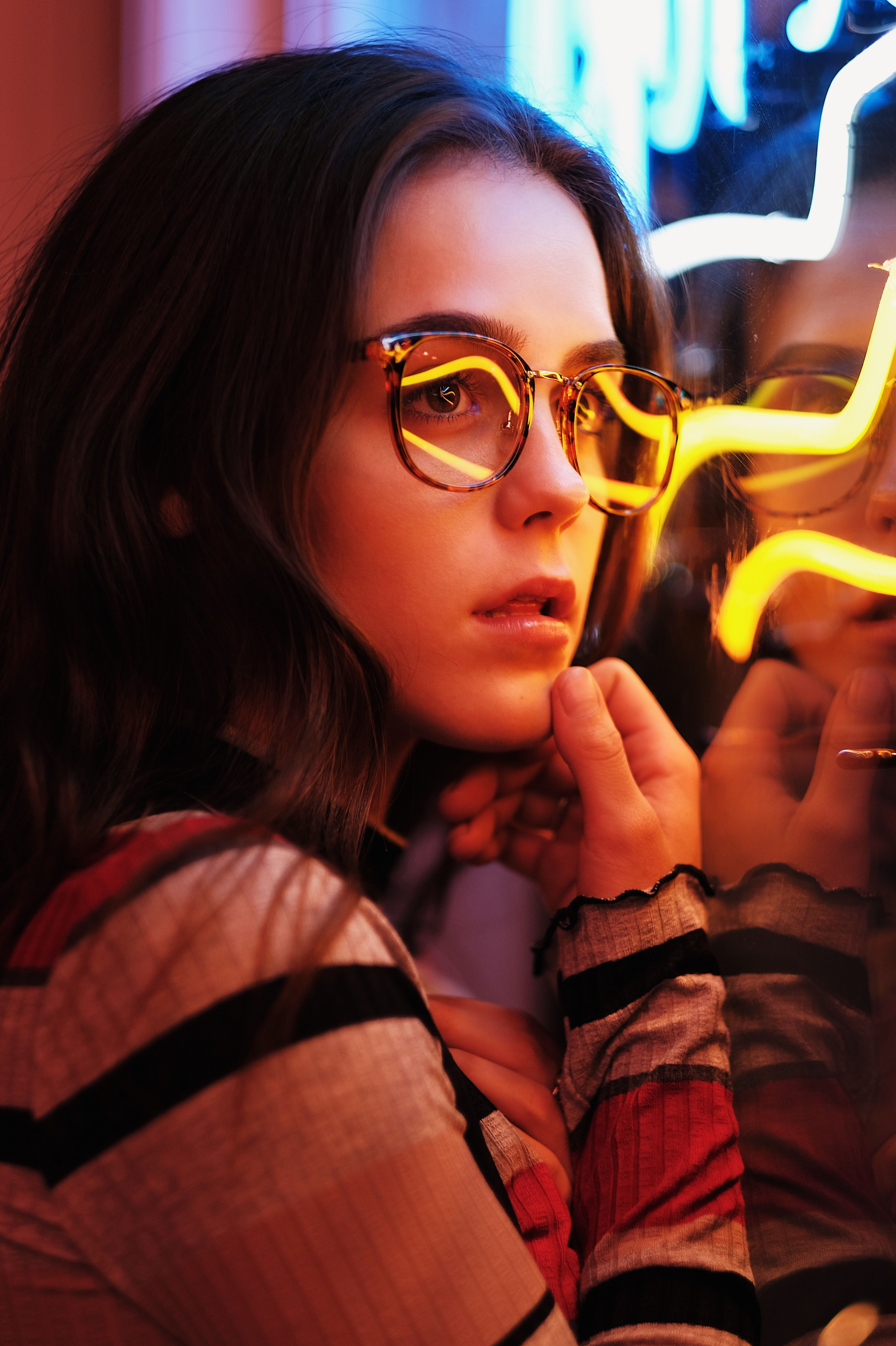 Neon Light Night Portraits Shoot
