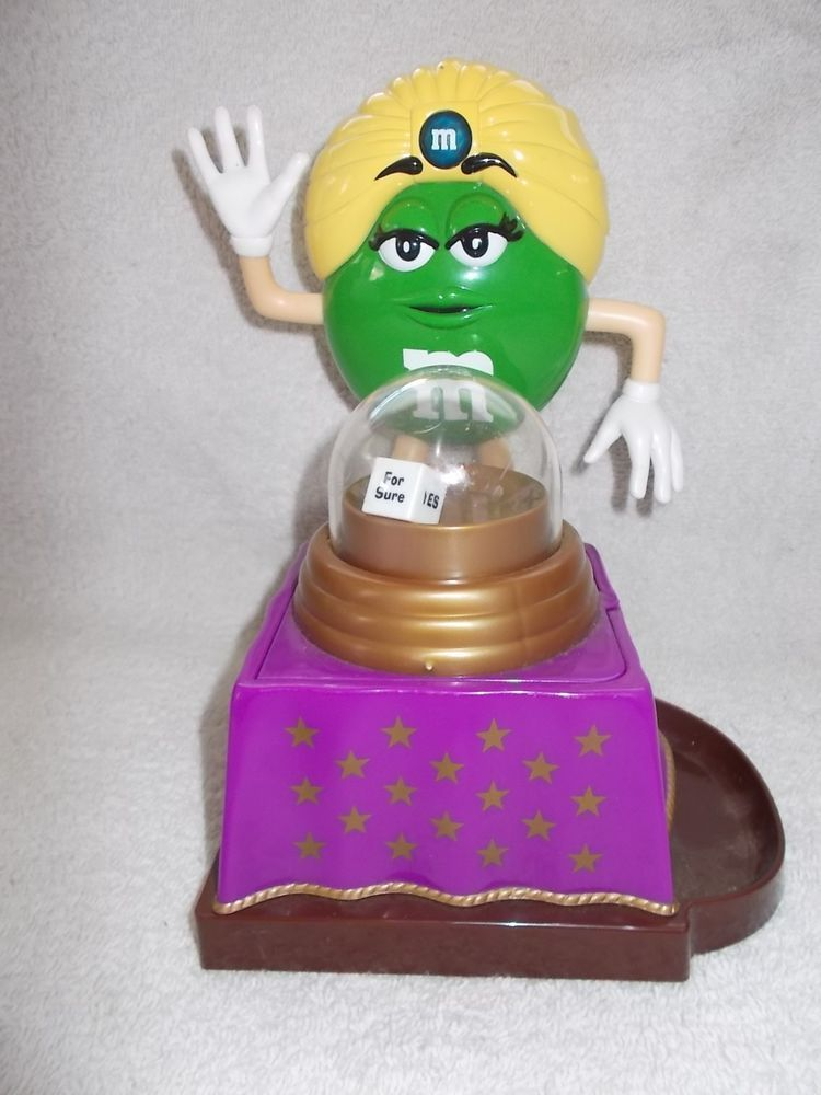 M&M Dispenser Green M&M Mars Candy Fortune Teller Machine Fun  #M&M #Candy #Dispenser #FortuneTeller