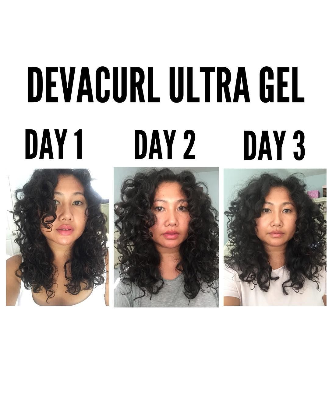 Devacurl Ultra Gel On 2c 3a Curls Over The Span Of Three