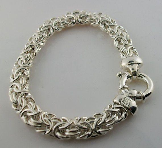 Milor Italy 925 sterling silver byzantine bracelet by massstuffs ...