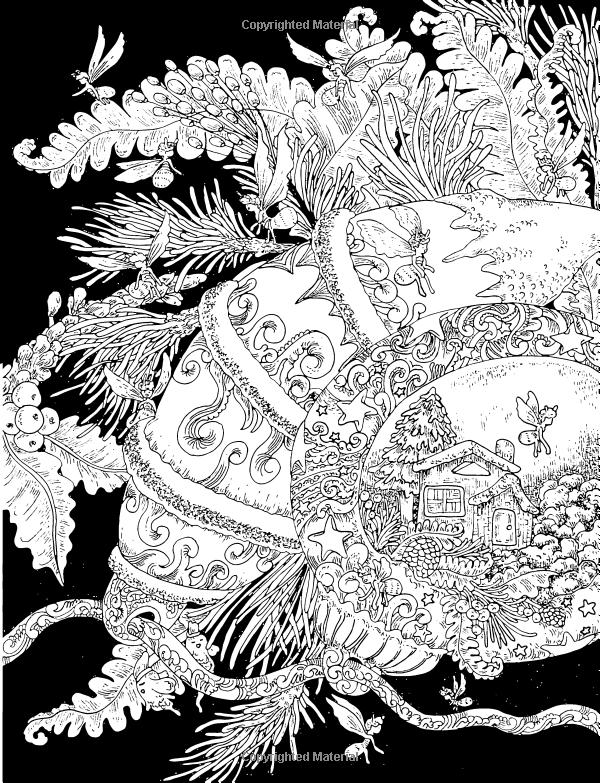 Silent Night Adult Coloring Book Amazoncouk Phoenix Amulet