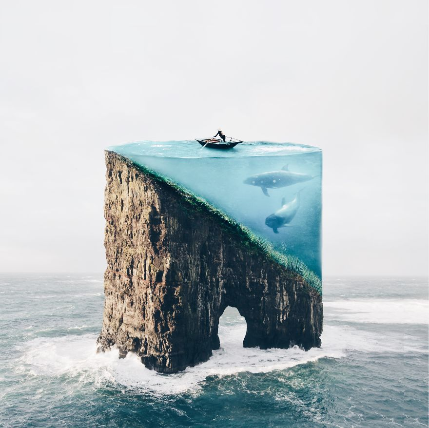 Im An YearOld Artist From Portugal And I Like Merging - Photographer uses photoshop to create surreal dreamy composite images